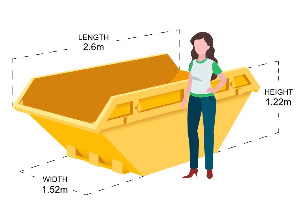 6 Yard Skip Dimensions
