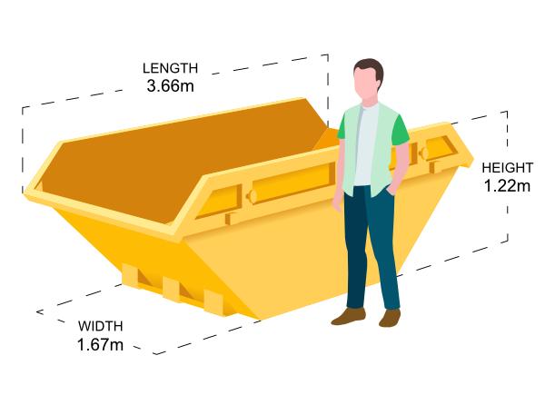 8 Yard Skip Dimensions